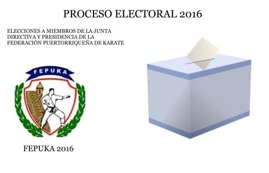 PROCESO ELECTORAL 2016